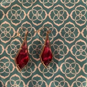 Kendra Scott Red drop earings